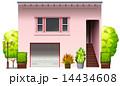 家 ピンク ピンク色のイラスト 14434608