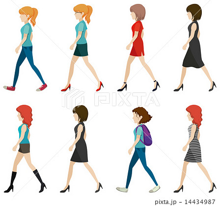 Faceless ladies walking in one direction 14434987 faceless ladies walking in one direction voltagebd Choice Image