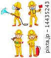 消防士 消火 レスキューのイラスト 14435243