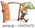 傘 人物 子供のイラスト 14435472