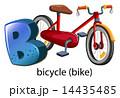 ビー 自転車 レターのイラスト 14435485