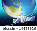 衛星 サテライト 軌道のイラスト 14435926