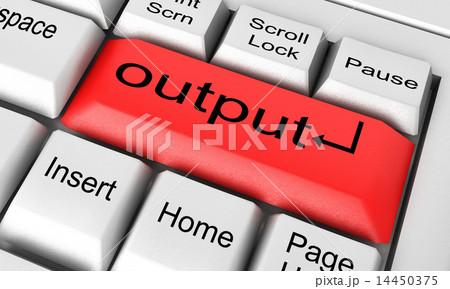 output word on white keyboardのイラスト素材 14450375 pixta