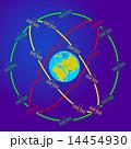 ネットワーク 通信 地球のイラスト 14454930