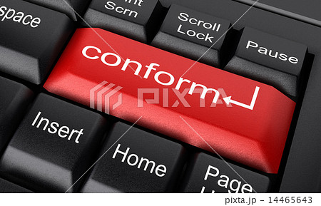 conform word on red keyboard button 14465643