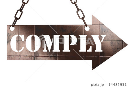 comply word on metal pointer 14485951
