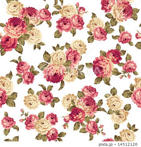 バラのパターンのイラスト素材 14512120 Pixta