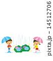 子供と傘と長靴 14512706