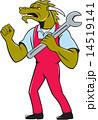 Dragon Mechanic Spanner Fist Pump Isolated 14519141