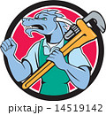 Dragon Plumber Monkey Wrench Fist Pump Cartoon 14519142