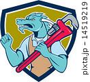 Dragon Plumber Monkey Wrench Fist Pump Shield 14519219