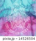 雪片 水彩画 結晶のイラスト 14526504