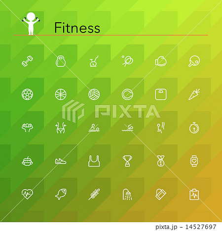 Fitness Line Icons 14527697