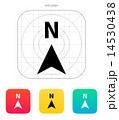 North direction compass icon. 14530438