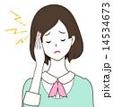 頭 体調不良 頭痛のイラスト 14534673
