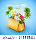 旅行 カバン 巾着のイラスト 14536381