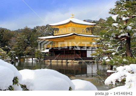 雪の金閣寺 14546942