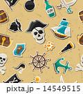 海賊 シームレス パターンのイラスト 14549515