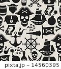 海賊 シームレス パターンのイラスト 14560395
