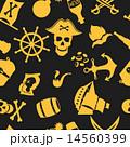 海賊 シームレス パターンのイラスト 14560399