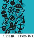 海賊 シームレス パターンのイラスト 14560404