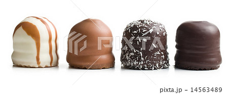 chocolate covered marshmallowsの写真素材 [14563489] - PIXTA
