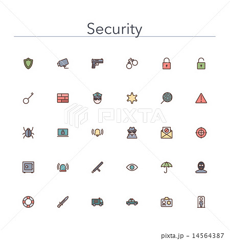 Security Colored Line Icons 14564387