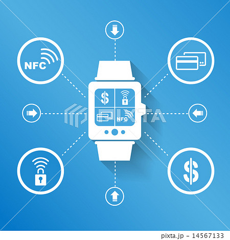 Smart watch for pay shopping 14567133