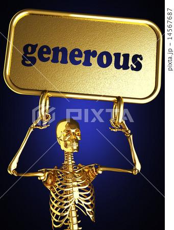 generous word and golden skeleton 14567687