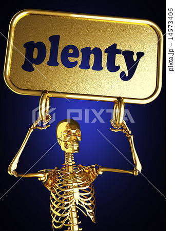 plenty word and golden skeleton 14573406