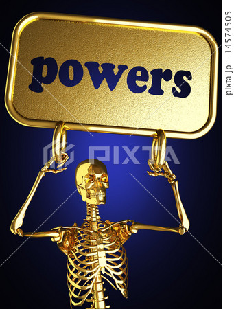 powers word and golden skeleton 14574505