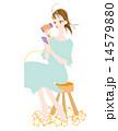 ドライヤー ベクター 女性のイラスト 14579880