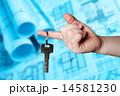 キー 鍵 支えるの写真 14581230