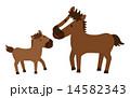ポニー 子馬 ベクターのイラスト 14582343