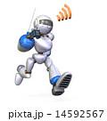 ロボット 走る 急ぐのイラスト 14592567