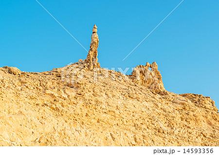 ロトの妻の塩柱(ヨルダン、死海沿い) 14593356