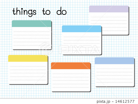 things to do blank templateのイラスト素材 14612577 pixta