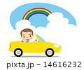 夏 ドライブを楽しむ男性 14616232