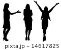 business woman silhouette 14617825