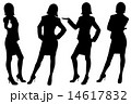 vector silhouette of business ladies 14617832