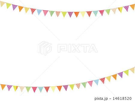 背景素材-かわいい三角フラッグ2 14618520