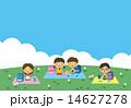 遠足をする子供たち 14627278