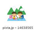 おにぎりを食べる子供 14638565
