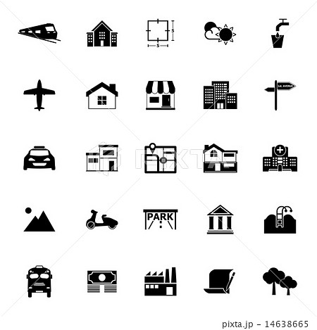 Real estate icons on white background 14638665
