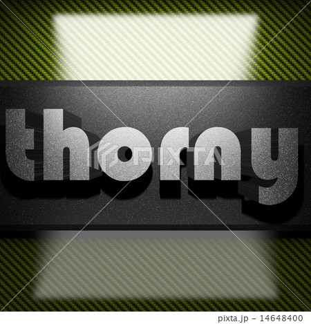 thorny word of iron on carbon 14648400