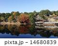 11月秋 紅葉の浮見堂  奈良公園の秋景色 14680839