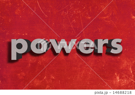 powers word on red wall 14688218