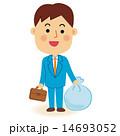 ゴミ袋 ゴミ出し 男性のイラスト 14693052