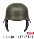 ヘルメット かぶと アーミーのイラスト 14717414