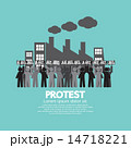 Group Of Workers Protest In Front Of The Factory 14718221